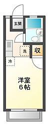 埼玉県さいたま市見沼区大字東新井の賃貸アパートの間取り