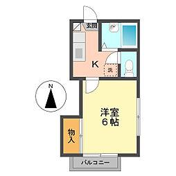 東京都江戸川区北小岩1丁目の賃貸アパートの間取り