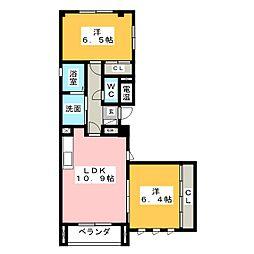 ピュアメゾン八幡[2階]の間取り