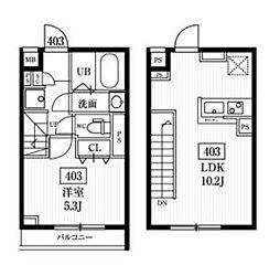 JR総武線 飯田橋駅 徒歩8分の賃貸アパート 4階1LDKの間取り