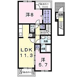 ガーデンエレガント2[2階]の間取り