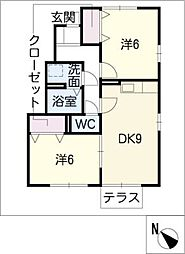 ヴィラノボノ B棟[1階]の間取り