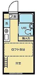 神奈川県海老名市中新田3の賃貸アパートの間取り
