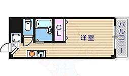 セラ帝塚山 2階ワンルームの間取り