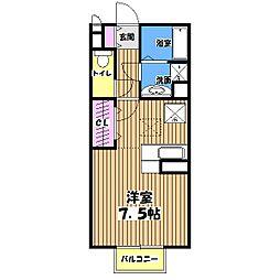 ベルデュール小金井[1階]の間取り