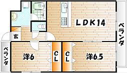 Fleur de Ishida[2階]の間取り
