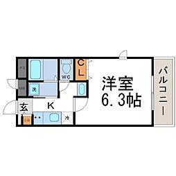 ブリッサ立花[3階]の間取り