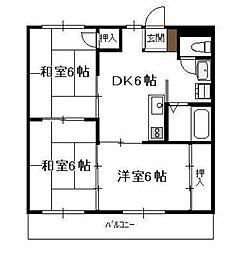 リバーサイドマンション 清武[303号室]の間取り