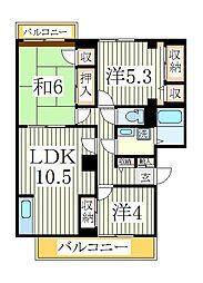 ガーデンビレッジ柏1号棟[1階]の間取り