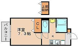 ジュネス博多南[2階]の間取り