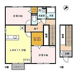 グロワールA[2階]の間取り