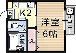 御陵駅 2.5万円