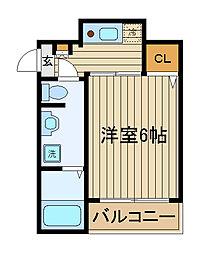 メゾンフォンダン[2階]の間取り