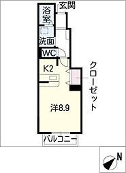クレアフォーシーズンズ C棟[1階]の間取り