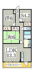 AXIS KASHIWA[1階]の間取り