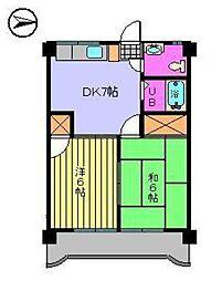 第75杉フラット[306 号室号室]の間取り