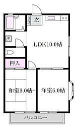 東京都杉並区今川2丁目の賃貸アパートの間取り