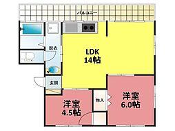 兵庫県神戸市中央区山本通3丁目の賃貸マンションの間取り