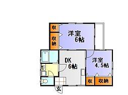 大谷アパート[1F号室]の間取り