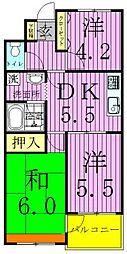 第二宝マンション[4階]の間取り