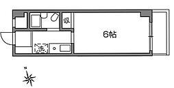 神奈川県川崎市多摩区東生田1丁目の賃貸アパートの間取り