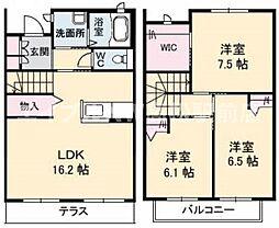 [テラスハウス] 香川県高松市林町 の賃貸【/】の間取り
