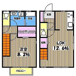 [テラスハウス] 東京都小金井市前原町4丁目 の賃貸【/】の間取り
