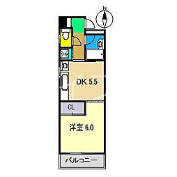 キャッスルガーデンハイツ[2階]の間取り