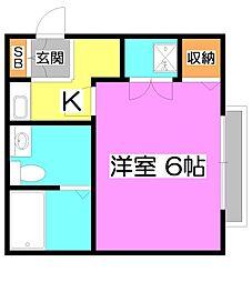 ドミール新座[3階]の間取り