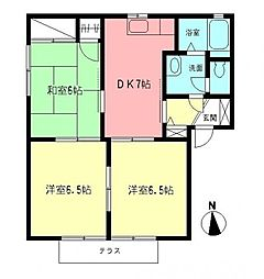 南里ガーデンハウスII[1階]の間取り