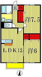 コモド八ヶ崎B[1階]の間取り