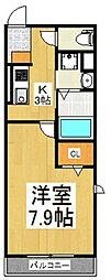 カーサ ベルデ[1階]の間取り