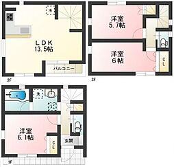 [一戸建] 東京都豊島区西池袋3丁目 の賃貸【/】の間取り