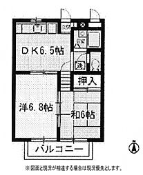 ラ・グリューIII[3階]の間取り