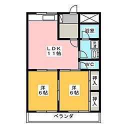 山口ビル[3階]の間取り