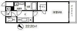 エスリード大阪城[6階]の間取り
