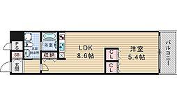 南堀江アパートメント シエロ[12階]の間取り