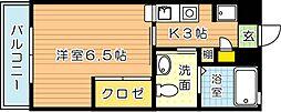 福岡県北九州市八幡西区千代ケ崎3丁目の賃貸マンションの間取り