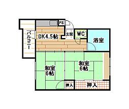 福岡県北九州市小倉北区泉台1丁目の賃貸マンションの間取り