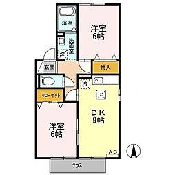 セジュール城見[1階]の間取り