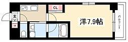 サムティ熱田RESIDENCE 4階1Kの間取り
