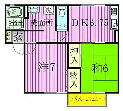 サニーヒル2号棟[2階]の間取り
