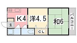 M 松の内アパート[206号室]の間取り