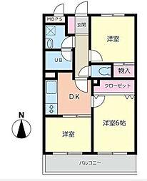 ACEパレス1[2階]の間取り