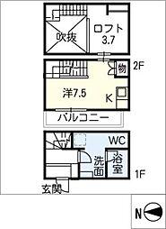 愛知県名古屋市南区観音町3丁目の賃貸アパートの間取り