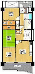 KDXレジデンス夙川ヒルズ 2番館[3階]の間取り