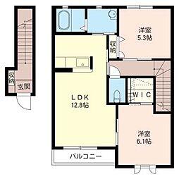 コートアベーユA[2階]の間取り