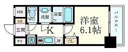 Osaka Metro御堂筋線 新大阪駅 徒歩7分の賃貸マンション 6階1Kの間取り