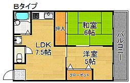 沢之町駅前ビルマンション[4階]の間取り