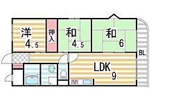 アメニティK&S PARTI[4階]の間取り